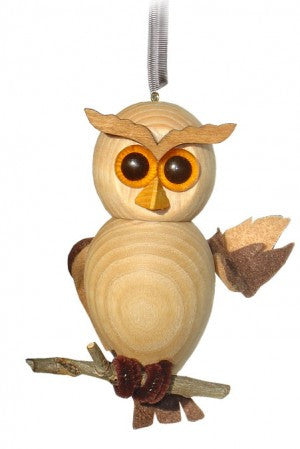 Cute Owl, Light Wood Handcrafted Wooden Jumpie