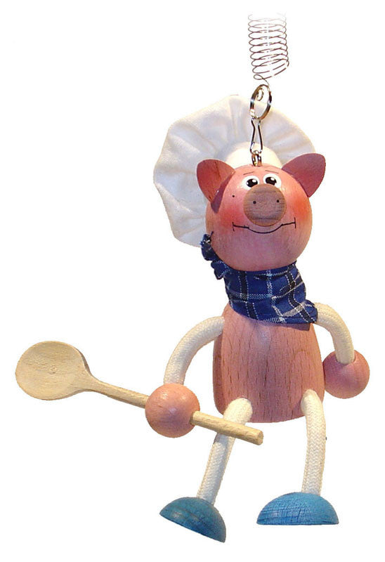 Piggy Cook Handcrafted Wooden Jumpies