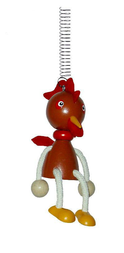 Rooster Handcrafted Wooden Jumpie