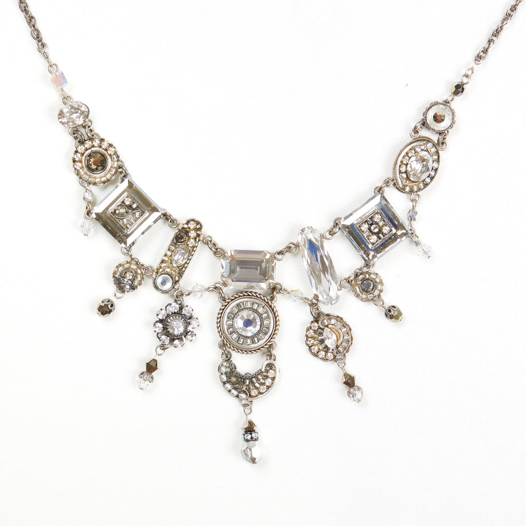 Silver La Dolce Vita Elaborate Necklace by Firefly Jewelry