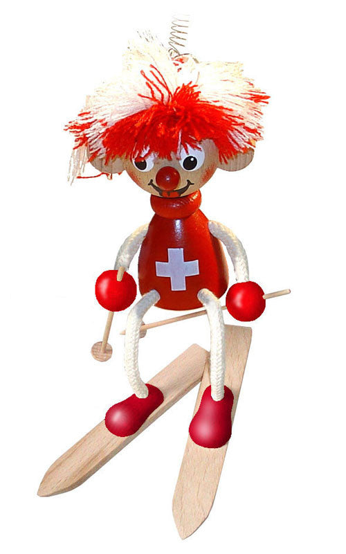Swiss Ski Patrol Handcrafted Wooden Jumpie