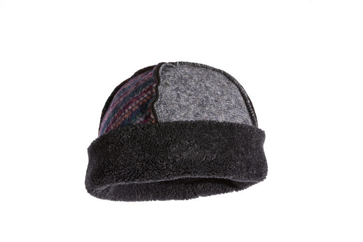 Wool Seamed Hat in Jewel