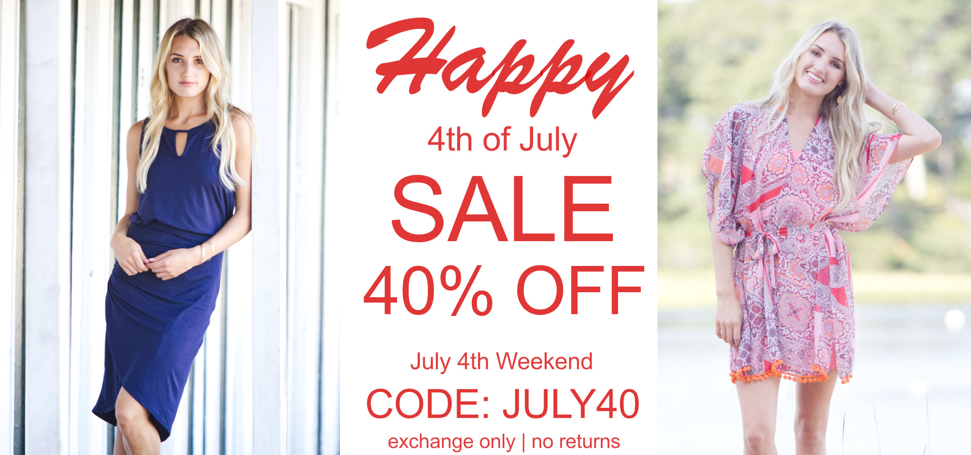 Vacay 4th of July Sale