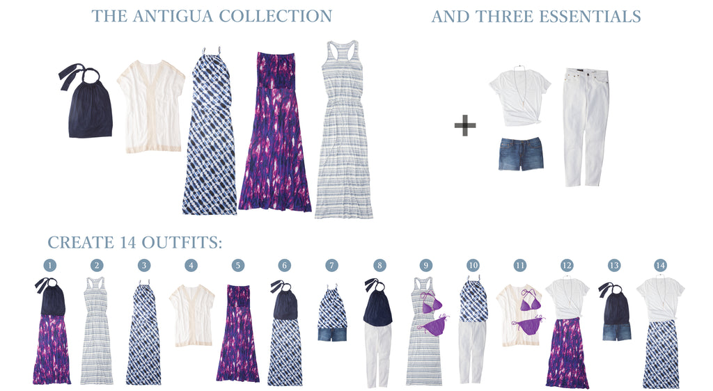 Vacay Antigua Collection Creates 14 Outfits