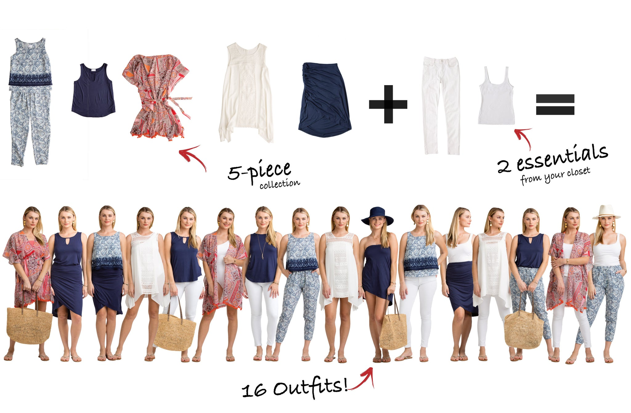 Vacay Antigua Collection: 5 items = 16 outfits