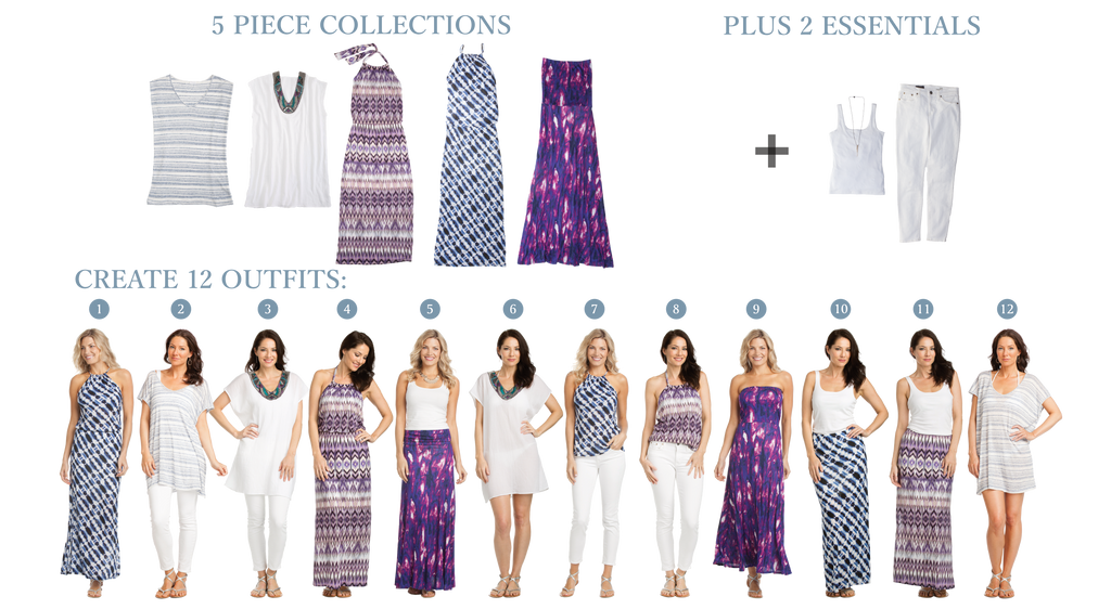 The Vacay Belize Collection 5 items create 12 outfits for your next vacation