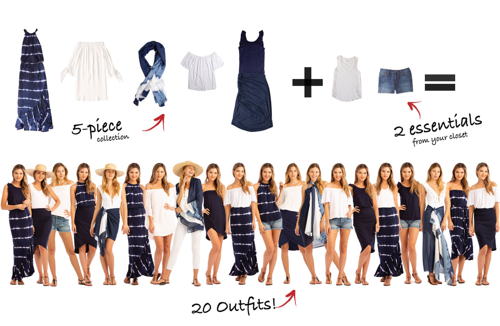 Carlisle Bay Collection: 5 items = 20 outfits
