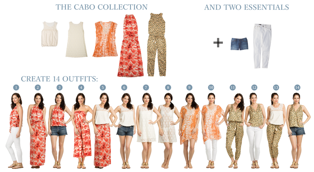 Vacay Cabo Collection - 5 items create 14 outfits