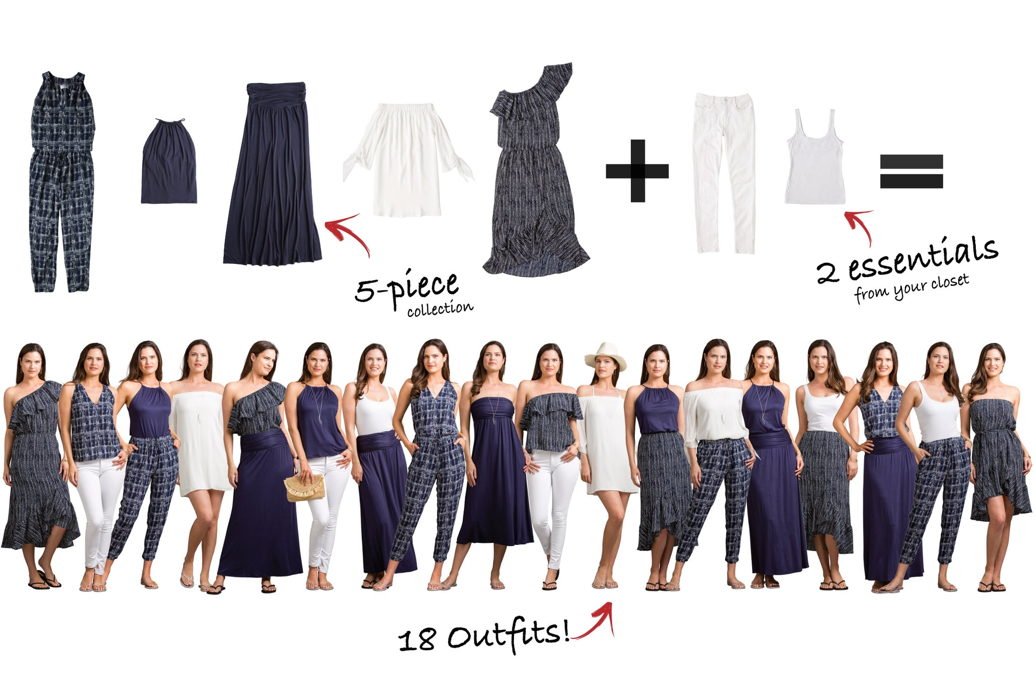 Carmel-by-the-Sea Collection: 5 items = 18 outfits