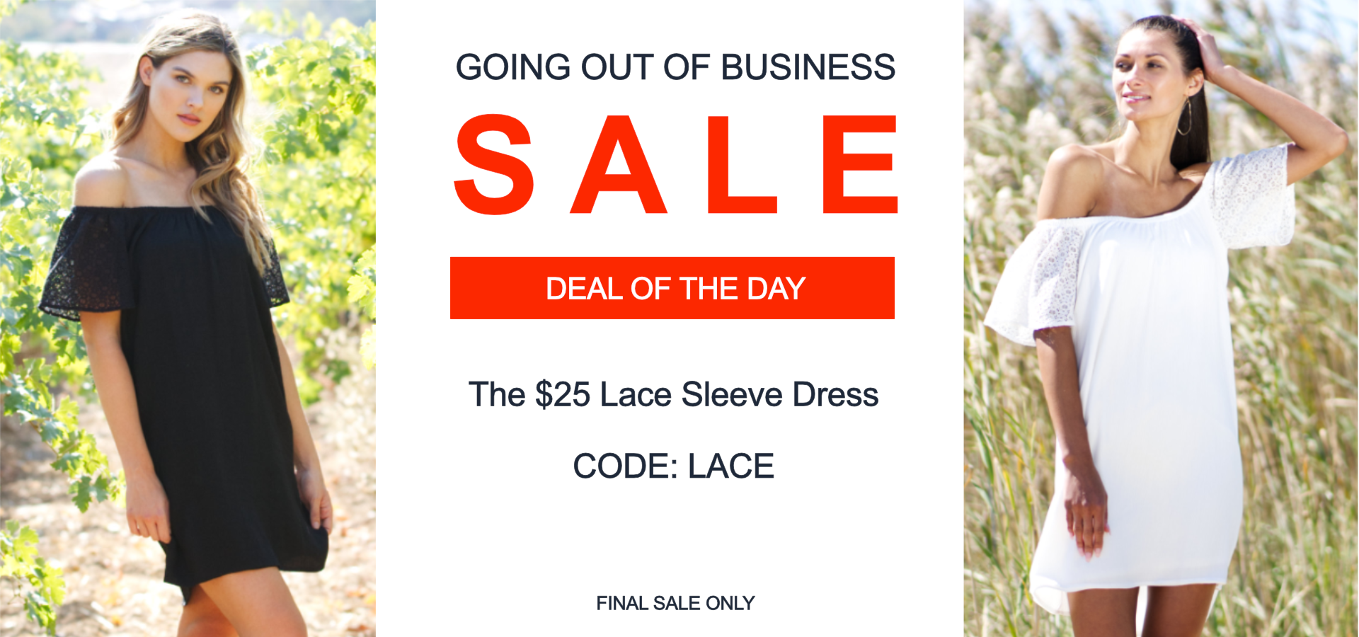 Vacay deal of the day lace sleeve dress