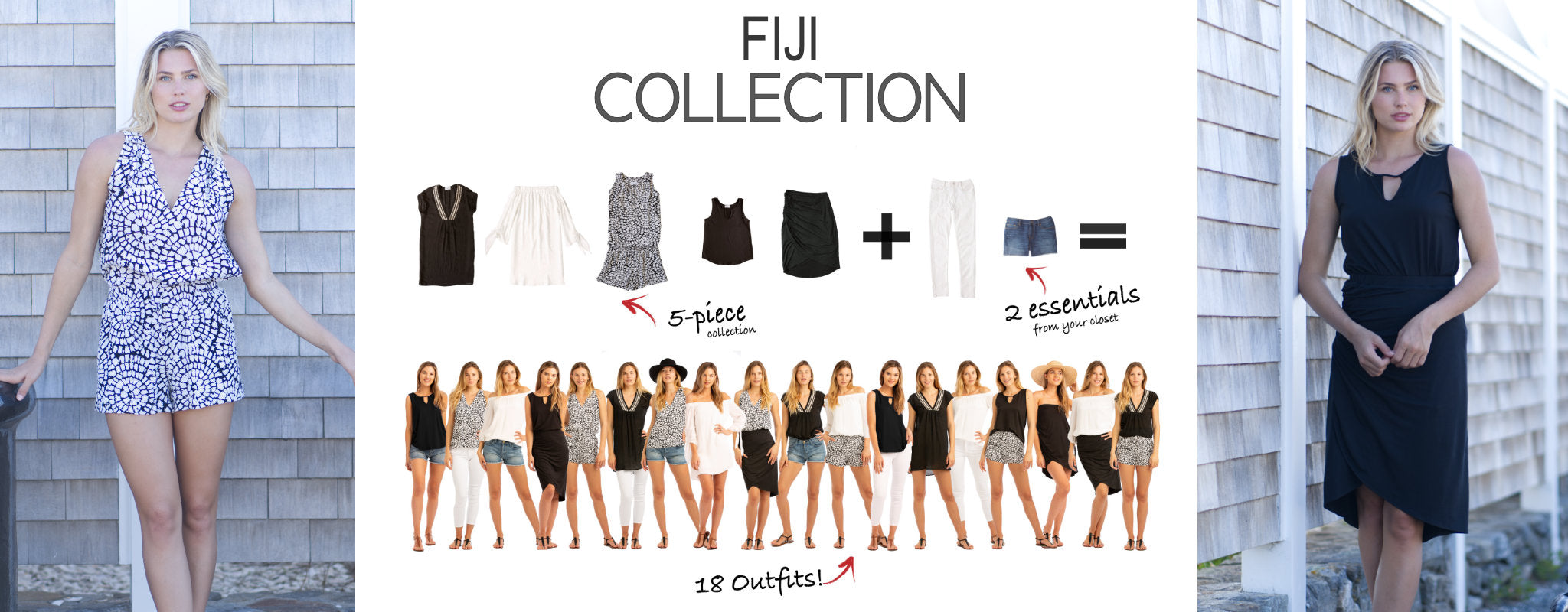Fiji Collection: 5 items = 18 outfits