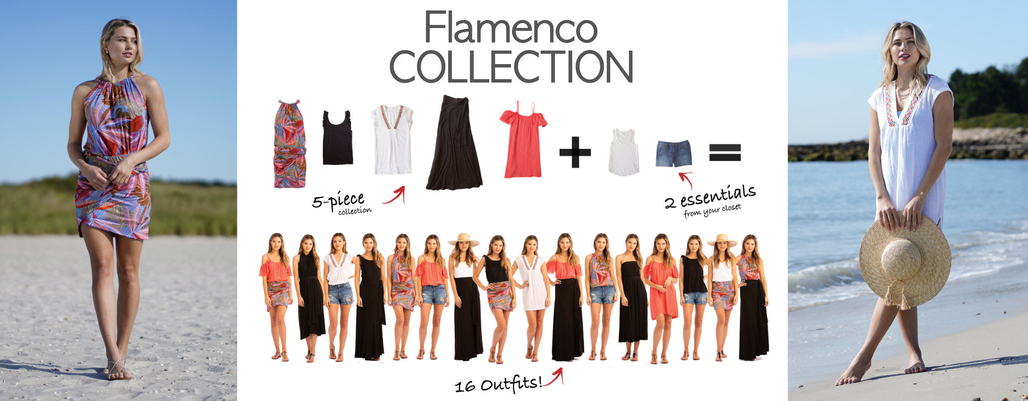 Flamenco Collection: 5 items = 16 outfits