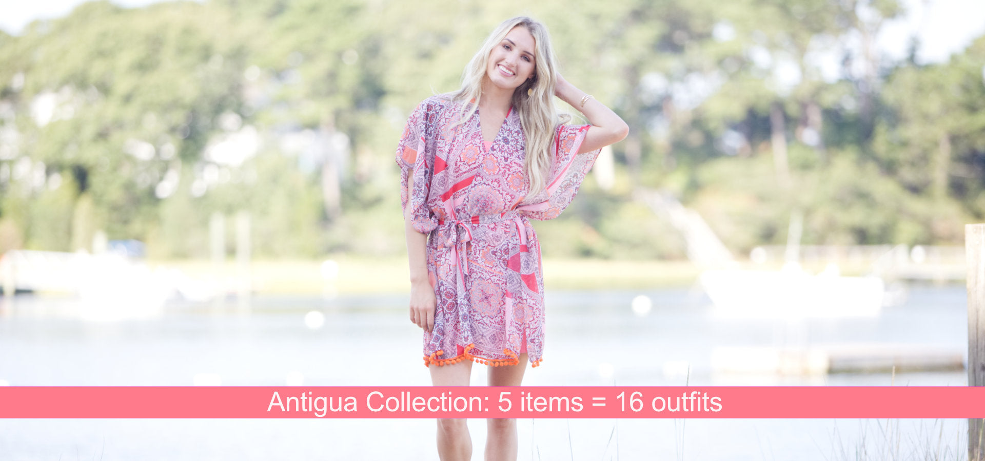 Antigua Collection: 5 items = 16 outfits