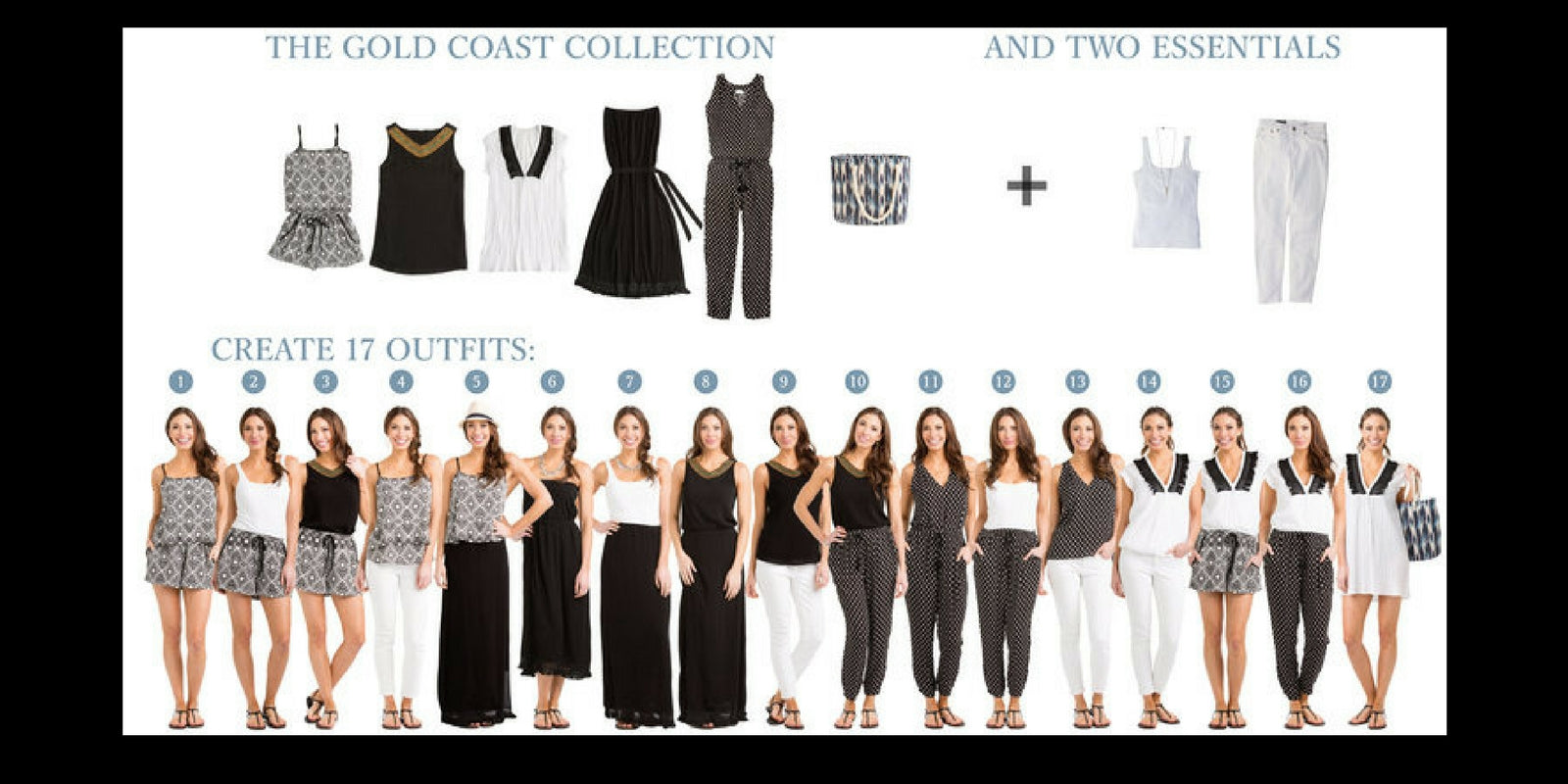 Vacay Gold Coast Collection: 5 items = 18 outfits