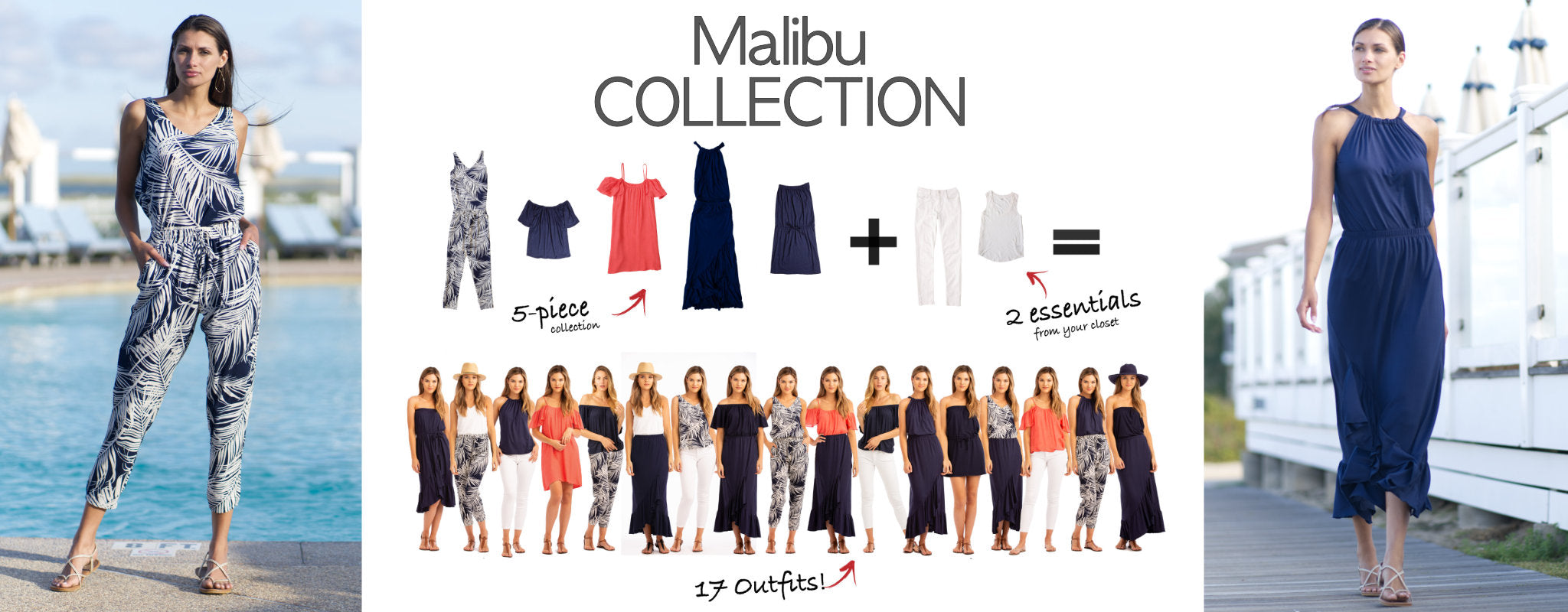 Malibu Collection: 5 items = 17 outfits