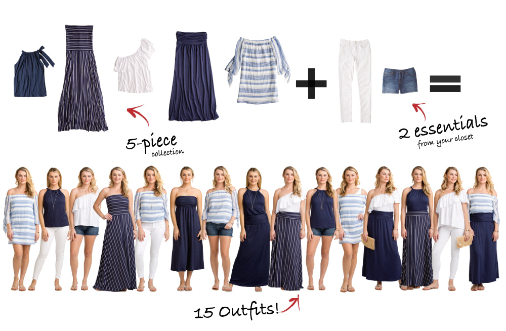 Martha's Vineyard Collection: 5 items = 15 outfits