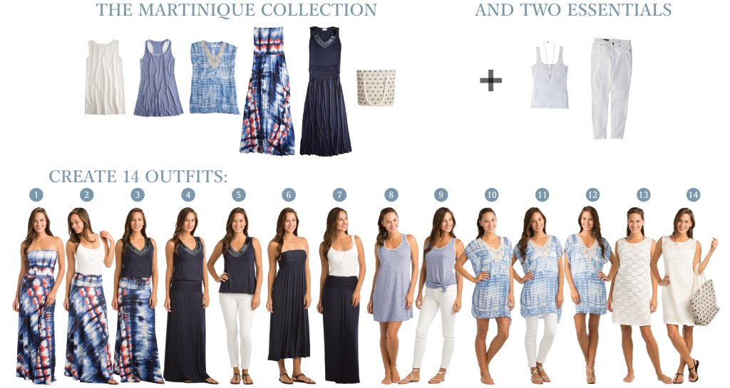Vacay Martinique Collection creates 14 outfits