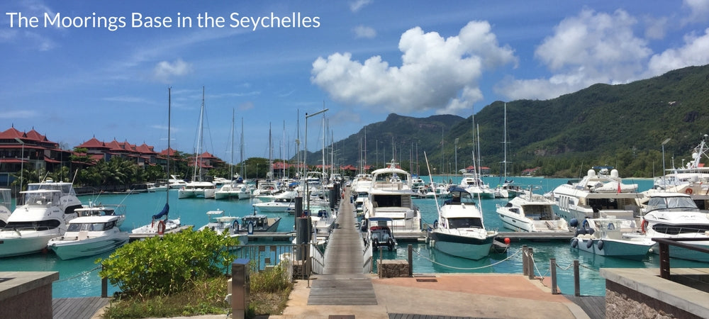 Moorings base in the Seychelles