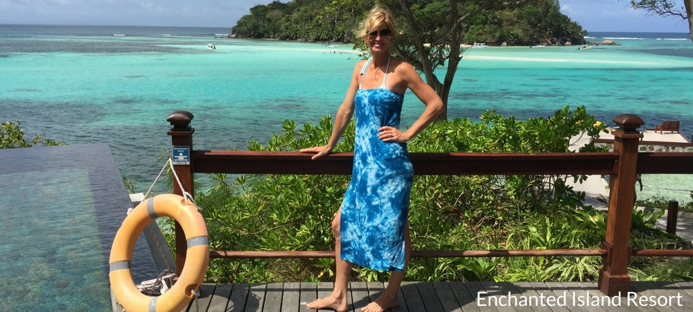 Vacay Founder Elizabeth at the Enchanted Island Resort