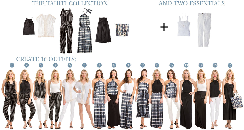 Tahiti Colleciton Image: 5 items = 16 outfits