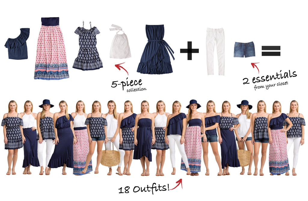 Nantucket Collection 5 items = 18 outfits
