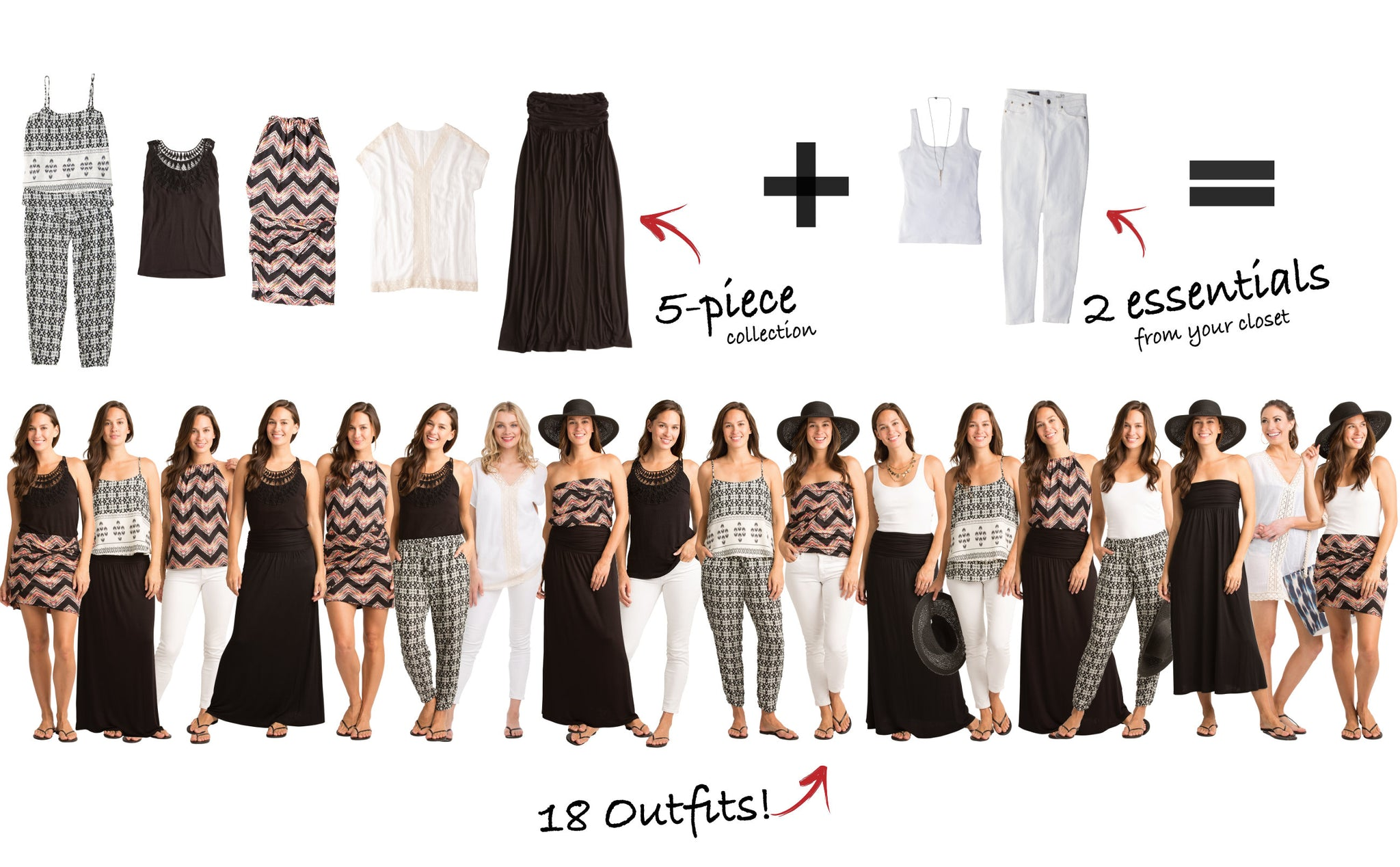 Palm Desert Collection: 5 Items = 18 Outfits