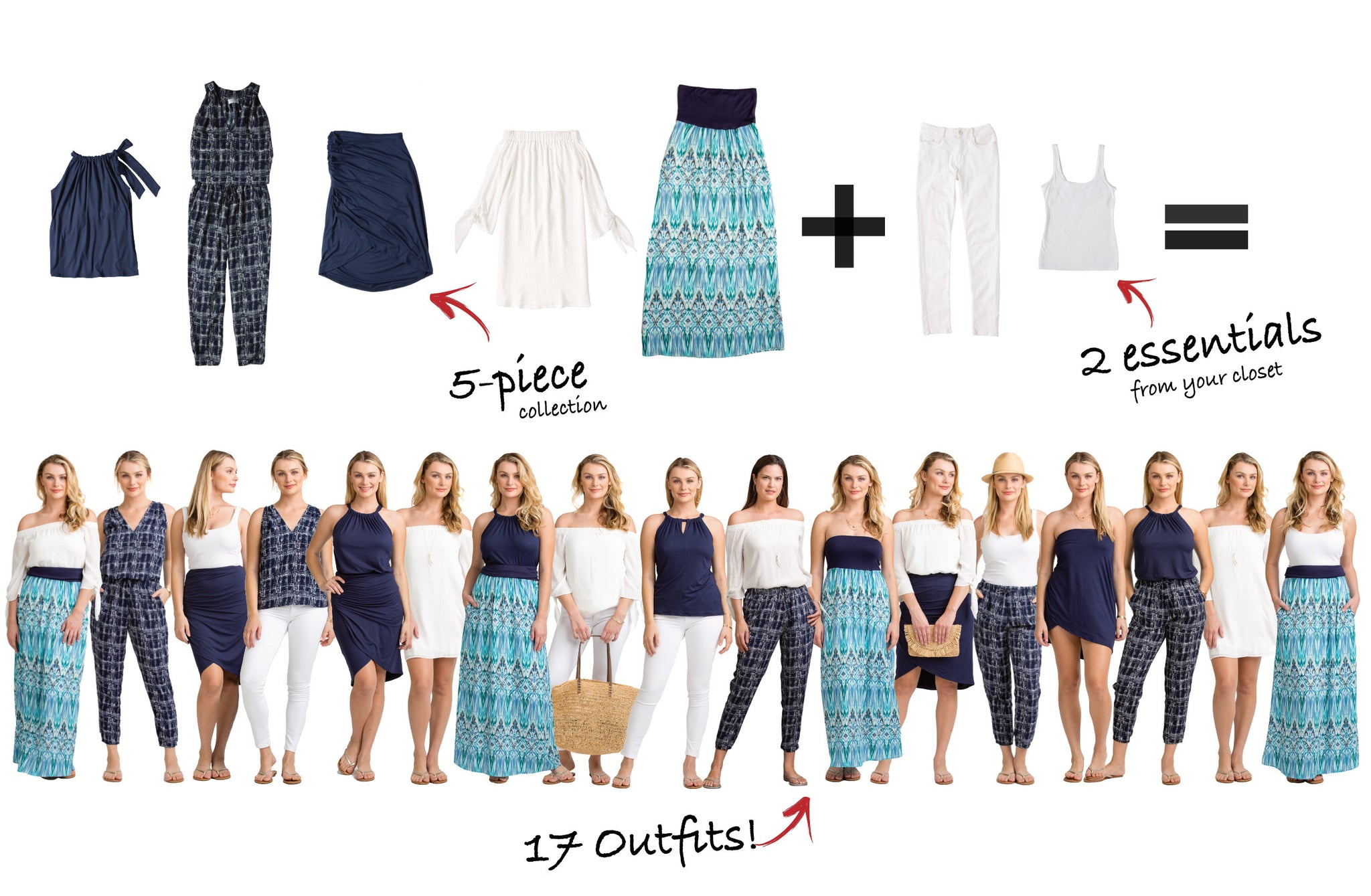 Scottsdale Collection: 5 items = 17 outfits