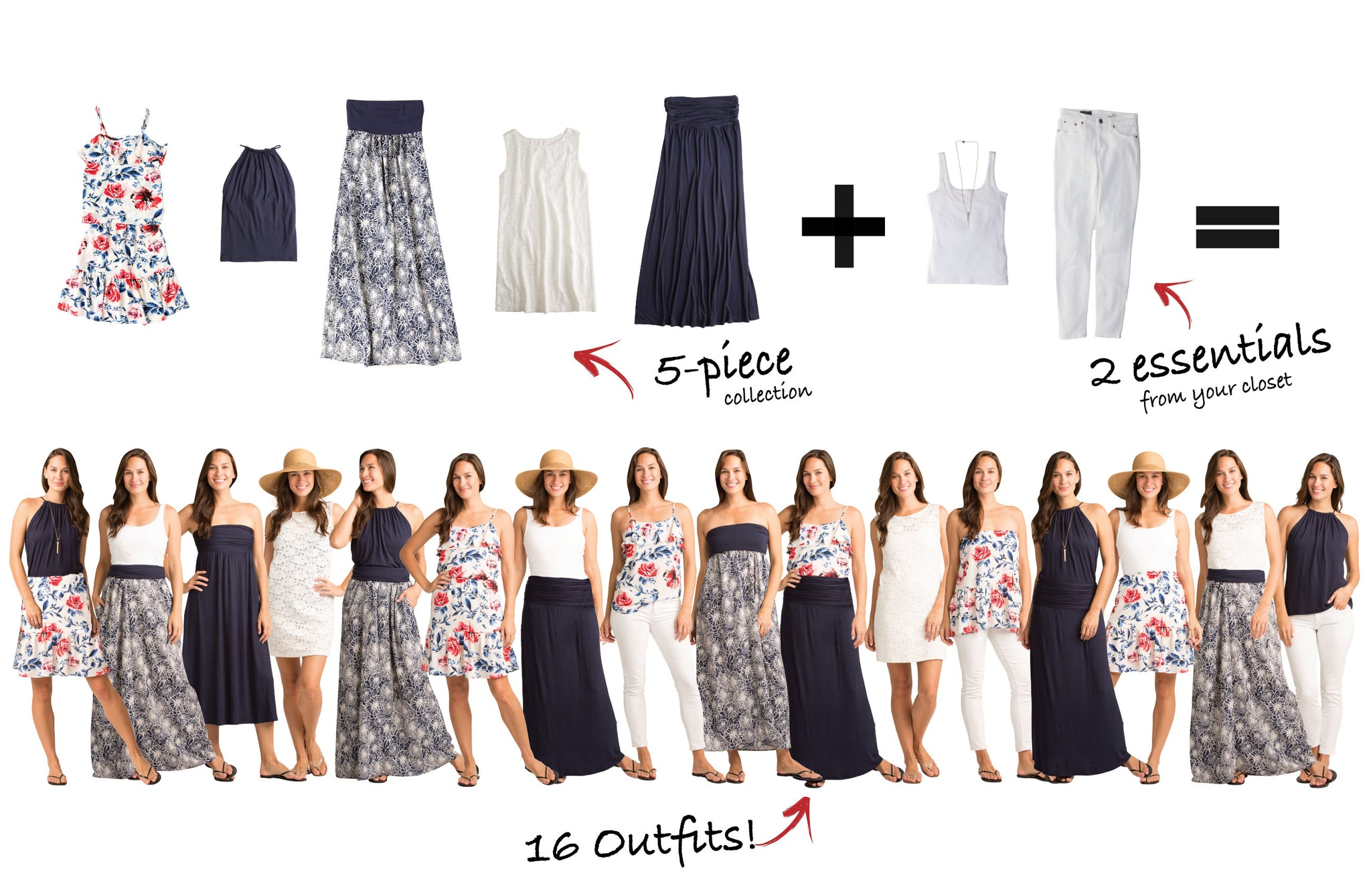Vacay Sonoma Collection: 5 items = 16 outfits