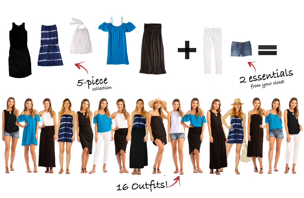 St. Croix Collection: 5 items, 16 outfits