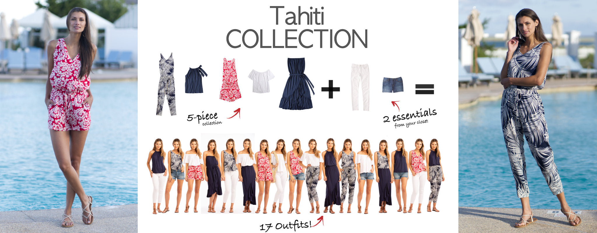 Tahiti Collection: 5 items = 17 outfits