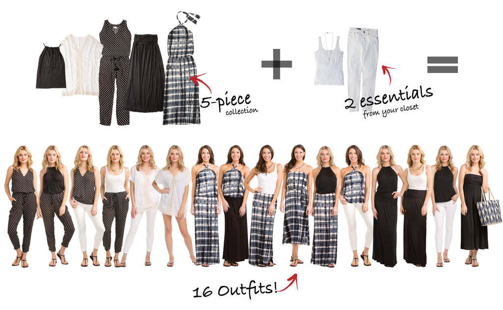 Tahiti Collection Creates 16 Outfits