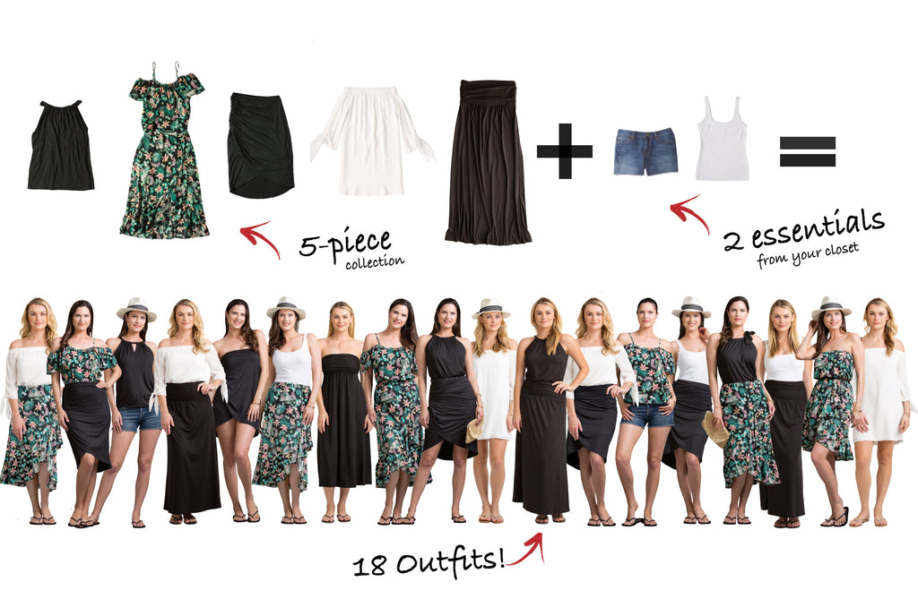 St. Lucia Collection: 5 items = 18 outfits