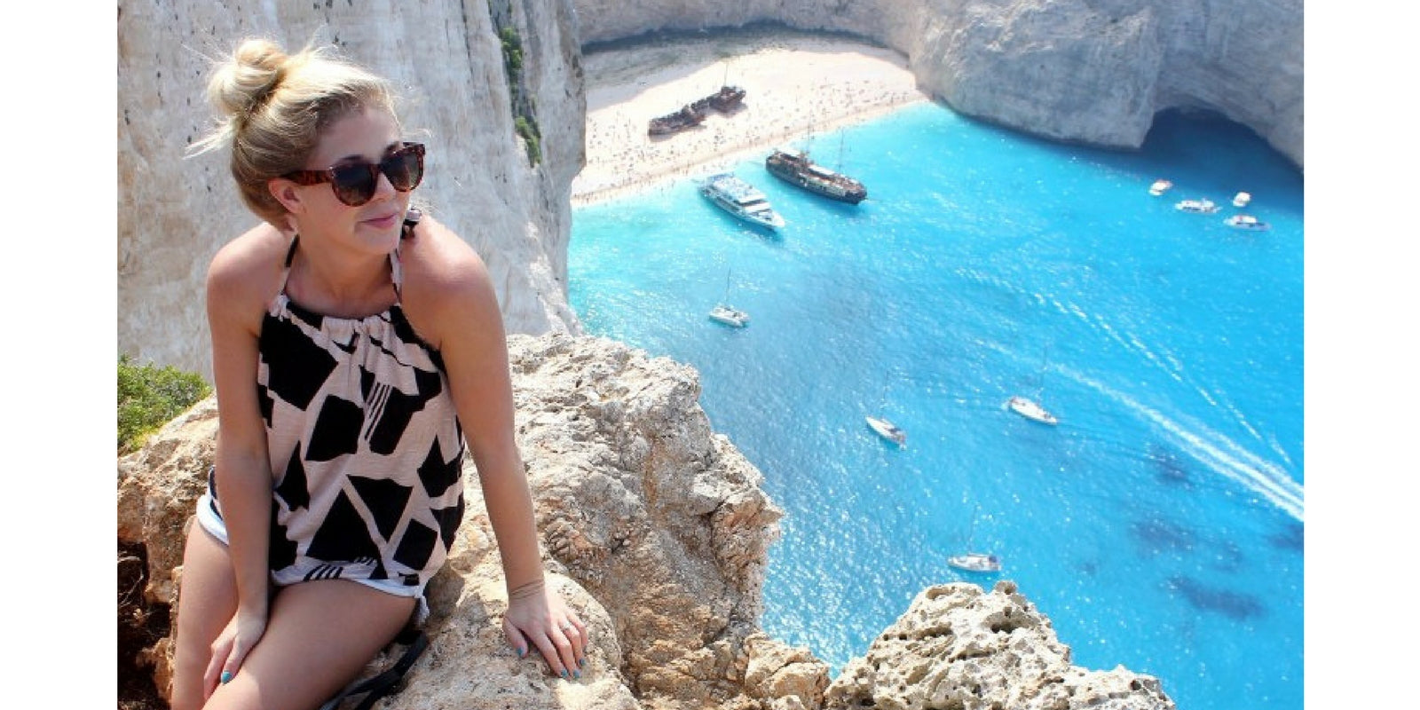The Belle Abroad in Vacay 2-Piece Dress in Greece