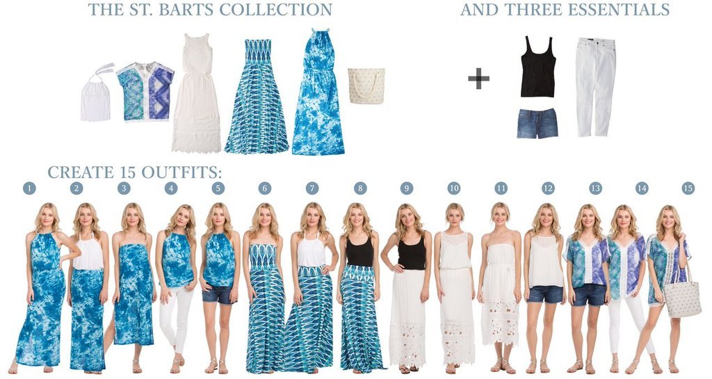 Vacay St Barts Collection creates 15 outfits