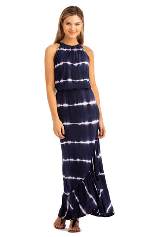 "VV 2-Piece Dress ""Off Shoulder+Twist"" Navy"