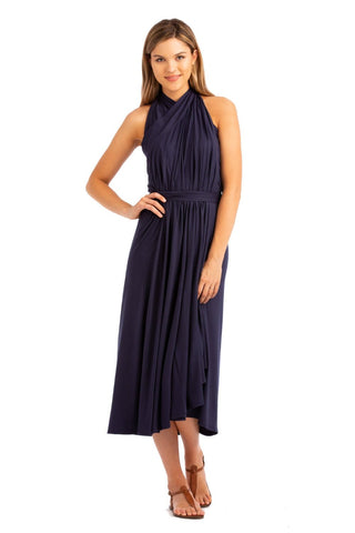 VV Convertible Wrap Dress Navy