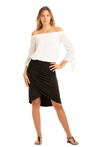 VV Convertible Twist Skirt Black