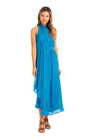 Vacay Convertible Wrap Dress Turquoise