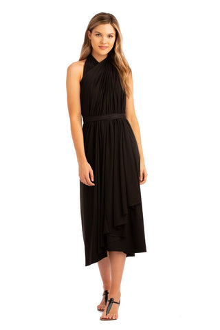 VV Convertible Wrap Dress Black