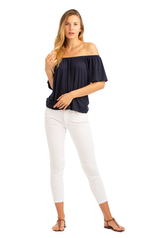 VV Off The Shoulder Top Navy
