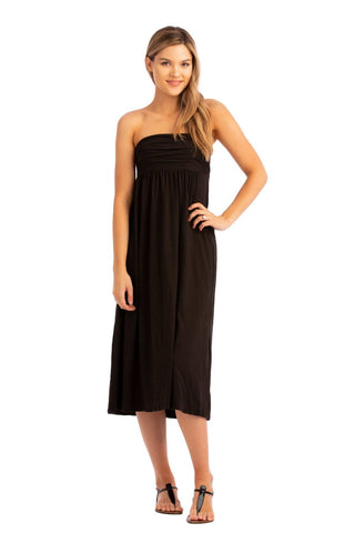 VV Convertible Ruched Dress Black
