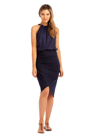 "VV 2-Piece Dress ""Halter+Tiered"" Navy"