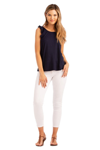 VV One Shoulder Top Navy
