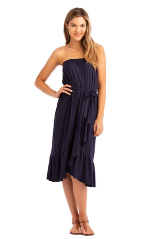 VV Convertible Tiered Dress Navy