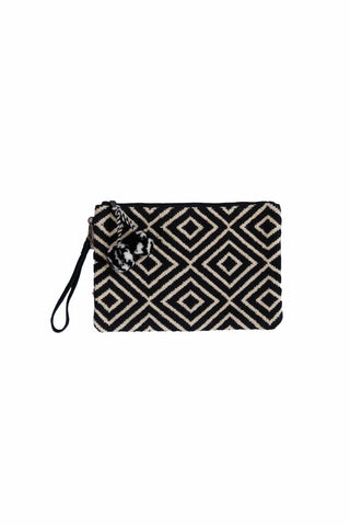 Vacay Diamond Pattern Clutch