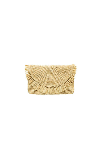 Vacay Beaded Tropical Embroidered Clutch