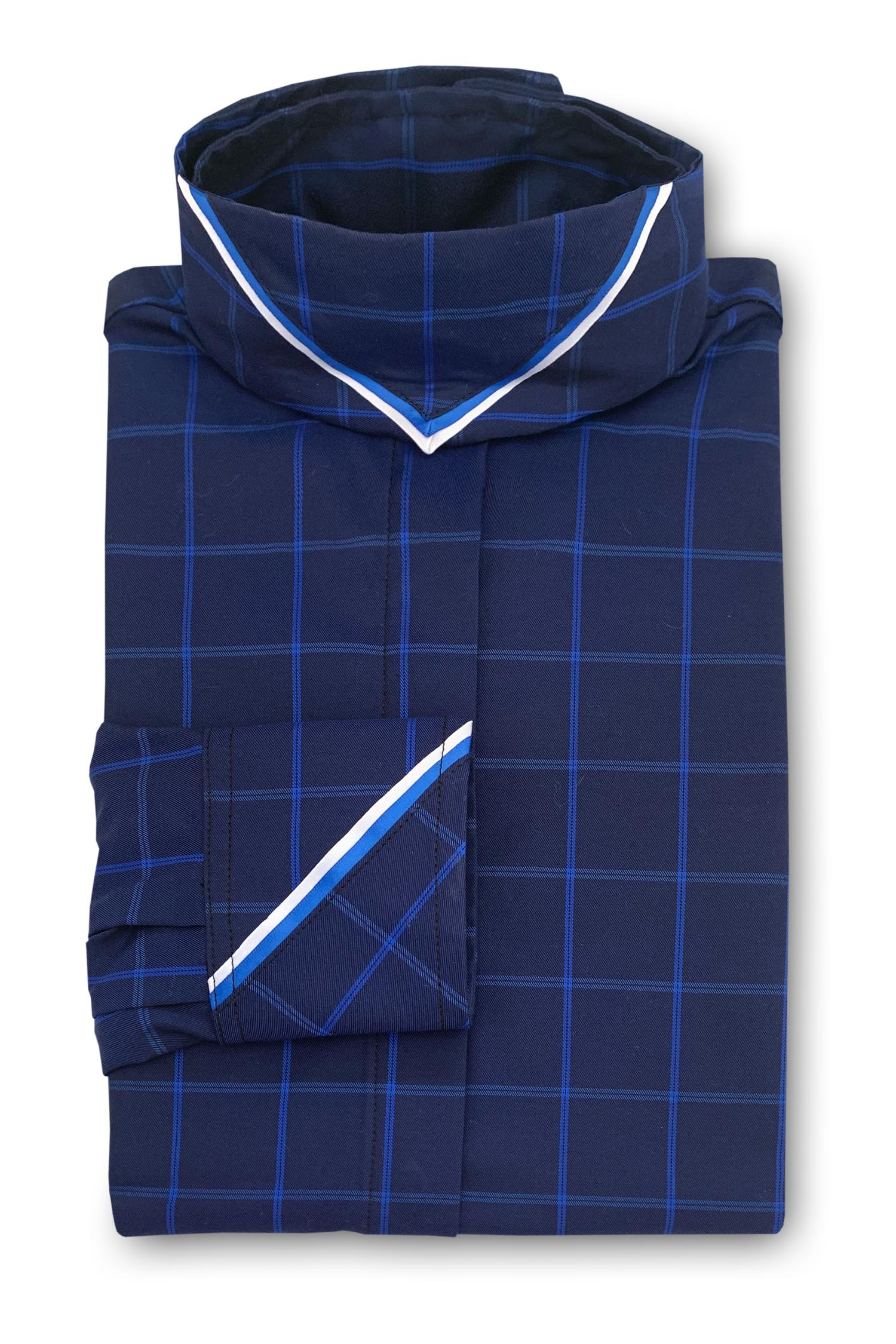 Sapphire Blue Plaid - White & Royal Blue