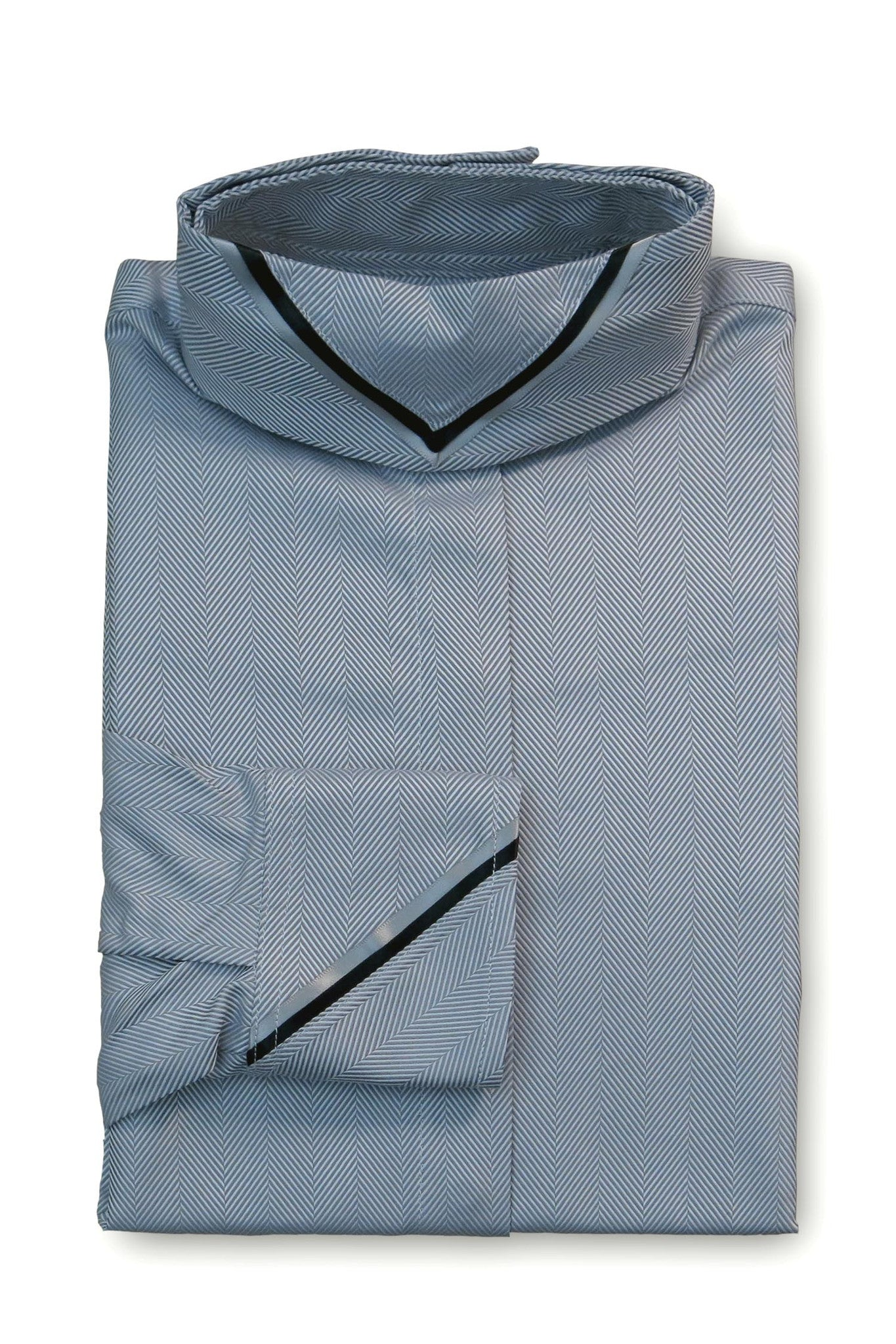 Dark Grey Herringbone - Slate & Black