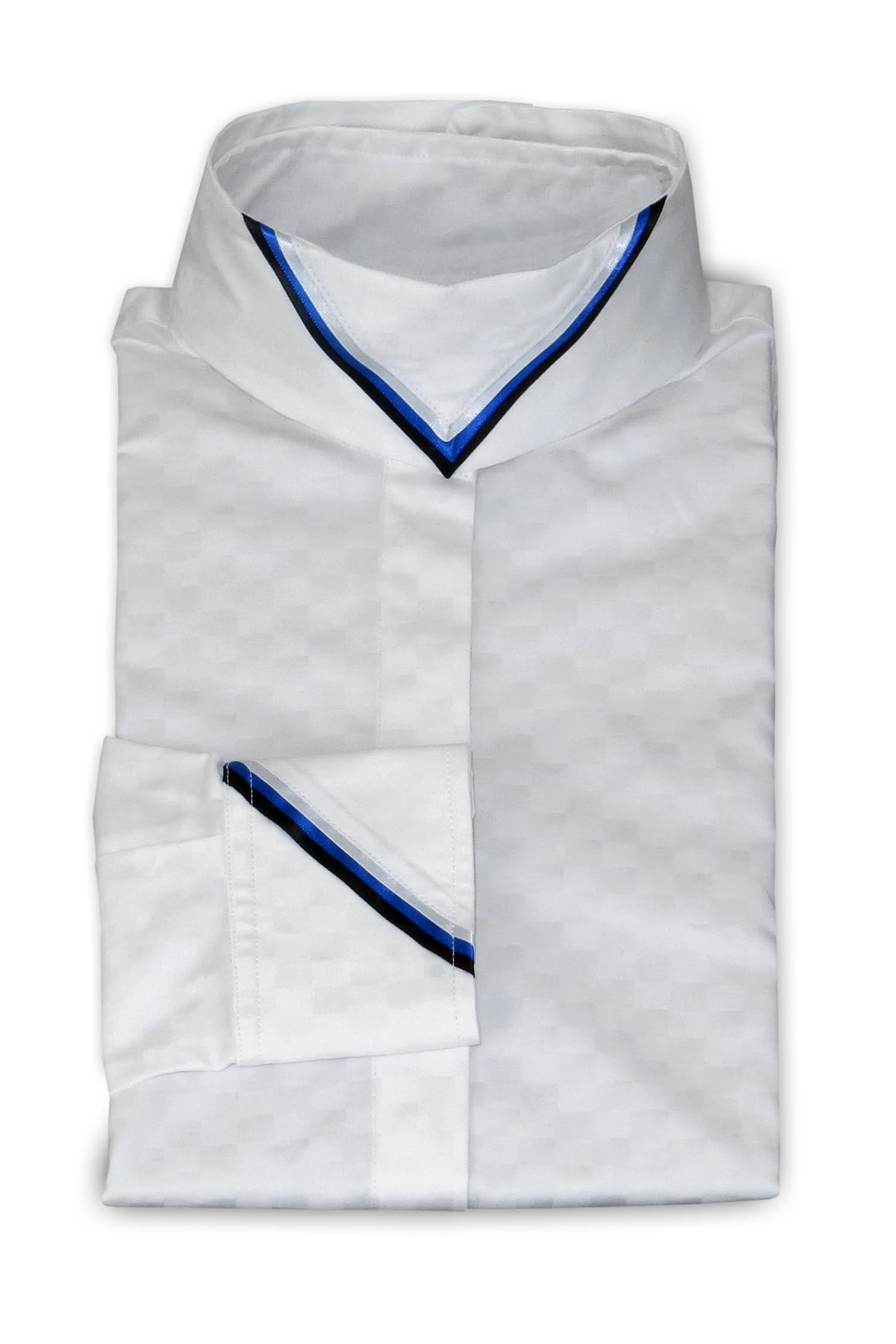 White Medium Check - Cobalt & White