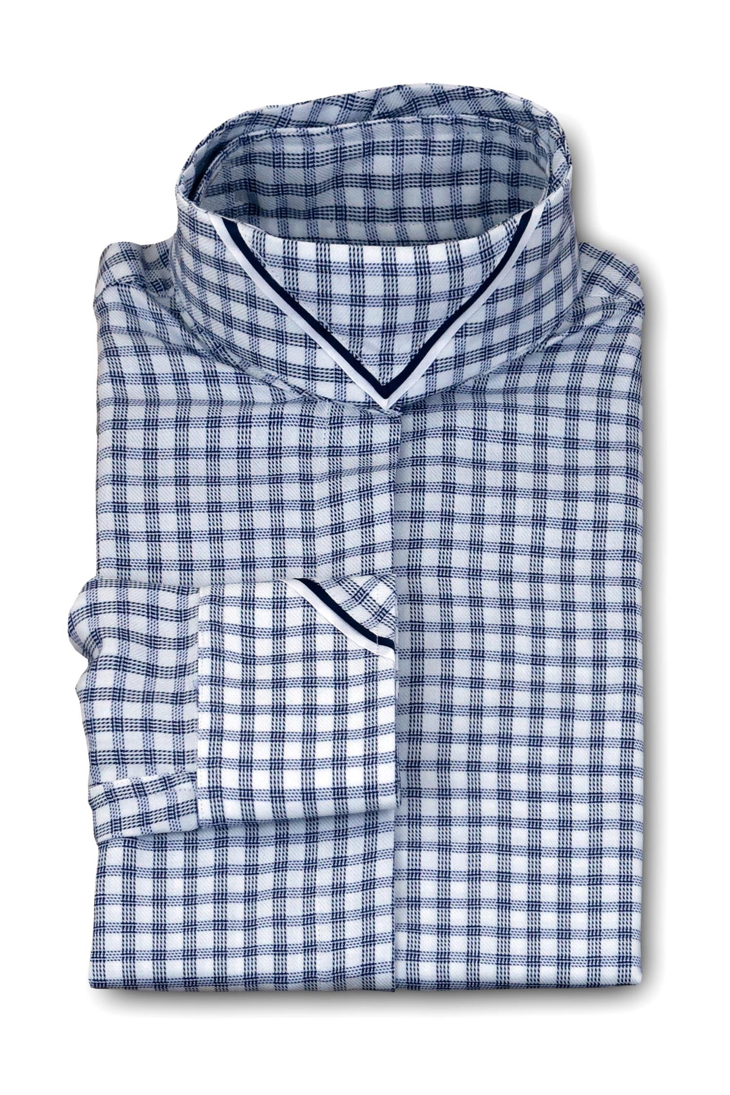 White Plaid - Navy & White